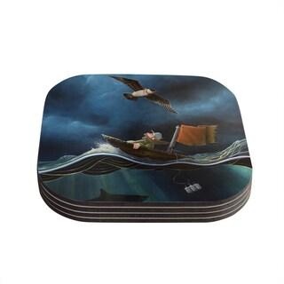 Kess InHouse Graham Curran 'Savages' Coasters (Set of 4)