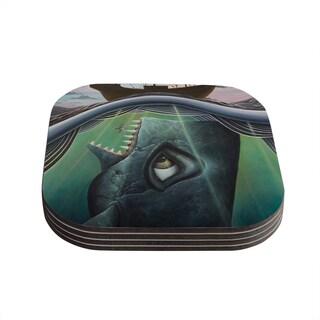 Kess InHouse Graham Curran 'Jonah' Coasters (Set of 4)