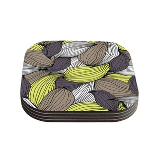 Kess InHouse Gabriela Fuente 'Wild Brush' Coasters (Set of 4)