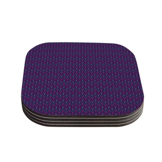 Kess InHouse Holly Helgeson 'Fairy Forest' Blue Purple Coasters (Set of 4)
