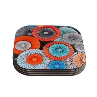Kess InHouse Heidi Jennings 'Breaking Free' Orange Blue Coasters (Set of 4)