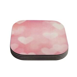 Kess InHouse Heidi Jennings 'Love is in the Air' Pink Coasters (Set of 4)