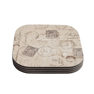 Kess InHouse Heidi Jennings 'World Traveler' Brown Coasters (Set of 4)