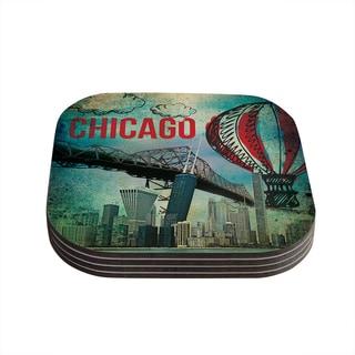 Kess InHouse iRuz33 'Chicago' Coasters (Set of 4)