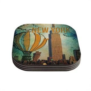 Kess InHouse iRuz33 'New York' Coasters (Set of 4)