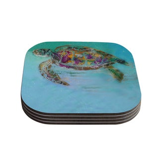 Kess InHouse Josh Serafin 'Mommy' Turtle Coasters (Set of 4)