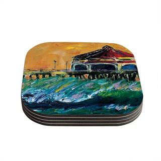 Kess InHouse Josh Serafin 'Offshore Beauty' Multicolor Coastal Coasters (Set of 4)