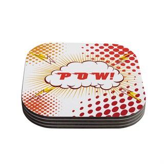 Kess InHouse KESS Original 'POW!' Cartoon Coasters (Set of 4)