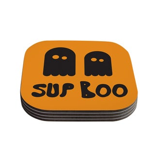 Kess InHouse KESS Original 'Sup Boo' Coasters (Set of 4)