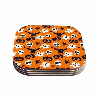 Kess InHouse KESS Original 'Spooktacular' Halloween Pattern Coasters (Set of 4)