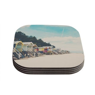 Kess InHouse Laura Evans 'Small Spaces' Beach Coastal Coasters (Set of 4)