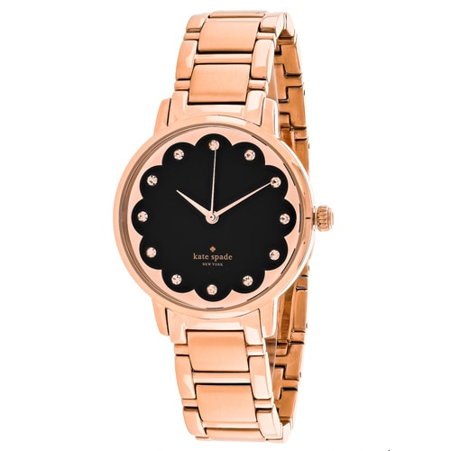 Kate Spade Women's KSW1044 'Scallop Metro' Crystal Rose-Tone Stainless Steel Watch