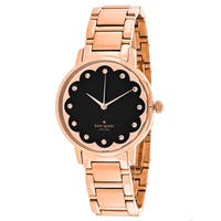 Kate Spade Women's KSW1044 'Scallop Metro' Crystal Rose-Tone Stainless Steel Watch