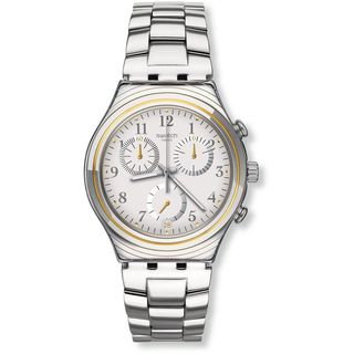 Swatch Unisex YCS586G 'Irony Silvernow' Chronograph Stainless Steel Watch