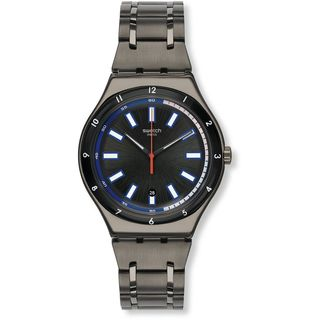 Swatch Men's YWM400G 'Irony Smokeygator' Grey Stainless Steel Watch
