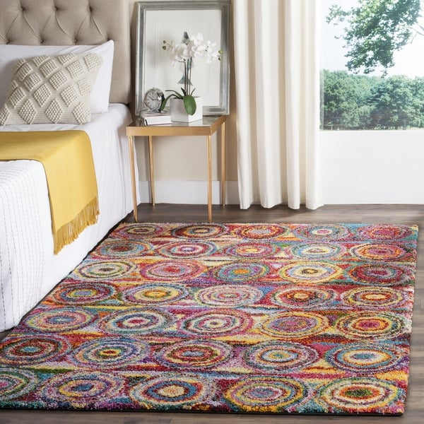 Safavieh Fiesta Shag Abstract Multicolored Rug (4' x 6')