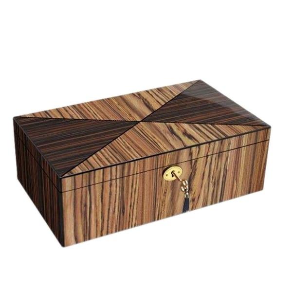 Brown Zebra Wood Collector Box