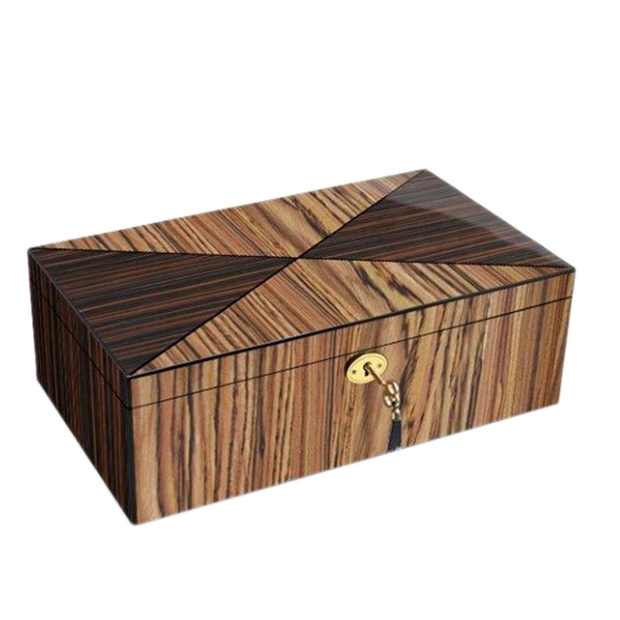 Brown Zebra Wood Collector Box (Gun/Knife Collector Box i...