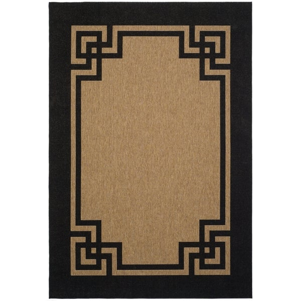Martha Stewart by Safavieh Deco Frame Dark Beige/ Black Rug (2' 7 x 5')