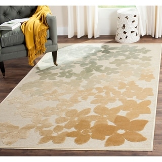 Martha Stewart by Safavieh Flower Field Geyser Viscose Rug (4' x 5' 7)