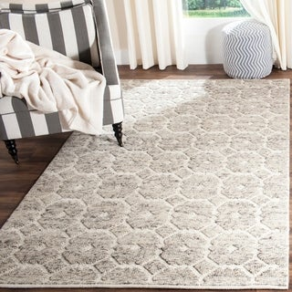 Martha Stewart by Safavieh Trellis Grey/ Ivory Wool Rug (4' x 6')