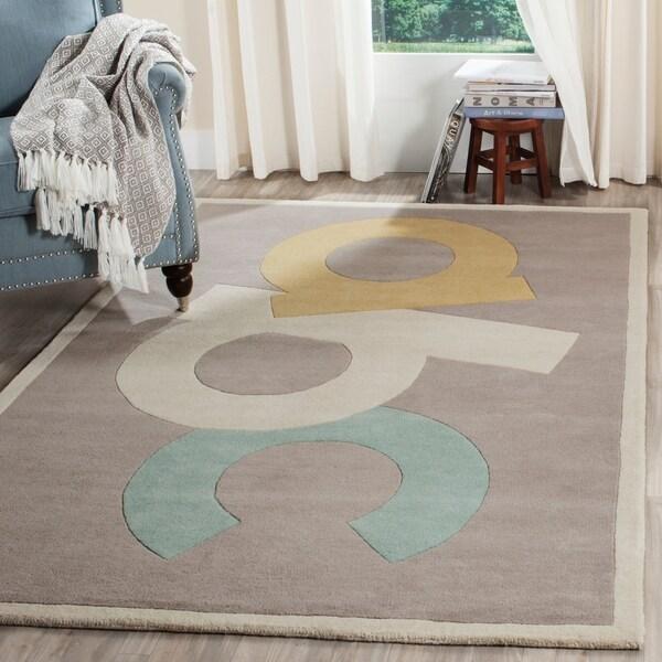 Shop Martha Stewart By Safavieh ABC Letters Zinc Grey Wool