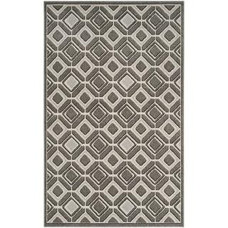 Safavieh Amherst Geneva Modern Indoor/ Outdoor Rug (5' x 8' - Grey/Light Grey)