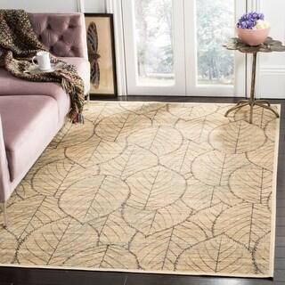 Martha Stewart by Safavieh Foliage Cream/ Multi Viscose Rug (5' 3 x 7' 6)
