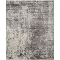 Safavieh Handmade Mirage Modern Watercolor Grey Viscose Rug (6' x 9')