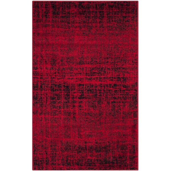 Safavieh Adirondack Modern Abstract Red/ Black Rug (2'6 x 4')