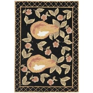 Safavieh Hand-Hooked Chelsea Black Wool Rug (2' 6 x 4')