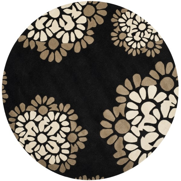 Martha Stewart by Safavieh Petal Mosaic Silhouette Wool Rug (6' Round)