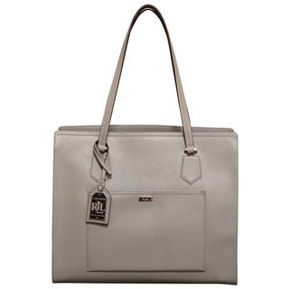 Ralph Lauren Lowell Dove Grey Tote Bag