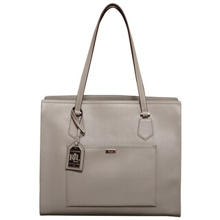 Ralph Lauren Lowell Dove Grey Tote Bag