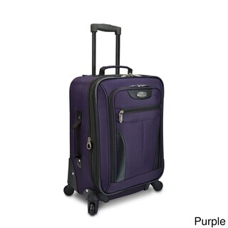 Traveler's Choice U.S. Traveler Charleville 20-inch Expandable Carry-on Spinner Suitcase (Option: Purple)