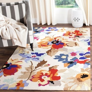 Safavieh Hand-Hooked Four Seasons Ivory / Multicolored Polyester Rug (2'3 x 8')