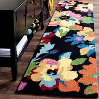Safavieh Hand-Hooked Four Seasons Black/ Multicolored Polyester Rug (2' 3 x 8')
