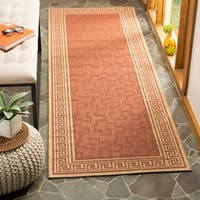"Martha Stewart by Safavieh Byzantium Terracotta/ Beige Indoor/ Outdoor Rug - 2'7"" x 8'2"""