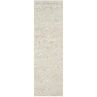 Safavieh Florida Shag Scrollwork Cream Runner (2' 3 x 7')