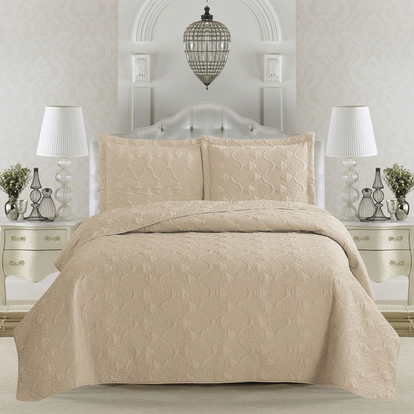 home fashion designs rossa collection vermicelli stitch 3 piece quilt set on sale free shipping on orders over 45 overstockcom 18721943