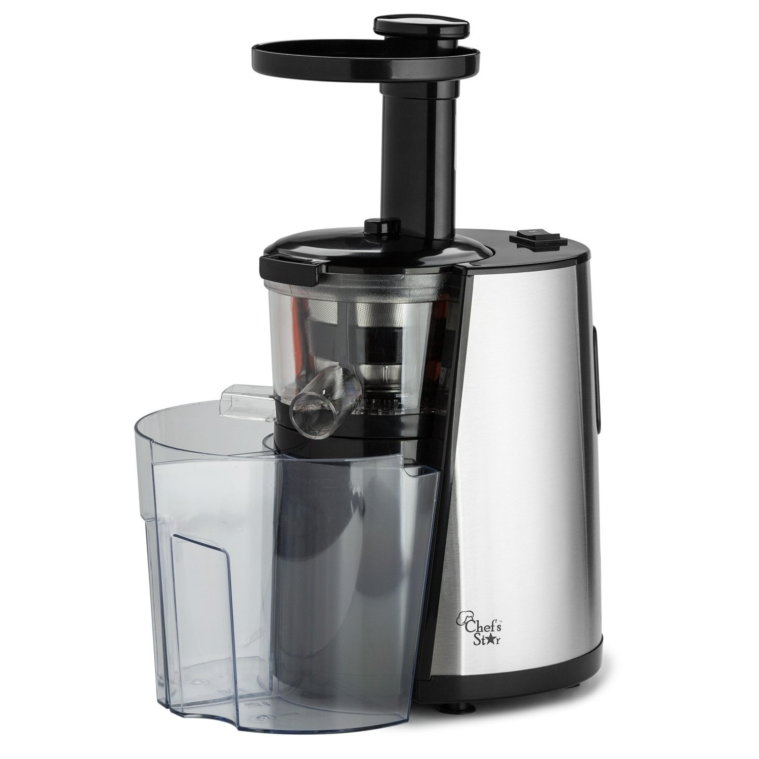 Chef's Star MSJ 501 Black Slow-Speed Button-Control Juice...