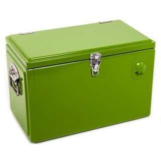 HIO 20-quart Steel Cooler Lunch Box, Outdoor Patio Cooler, Retro Style Cooler