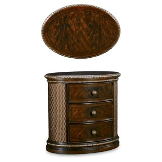 A.R.T. Furniture Gables Cherry Oval 3-drawer Nightstand