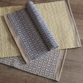 INK+IVY Charlie Woven Cotton Rug 3-Color Options