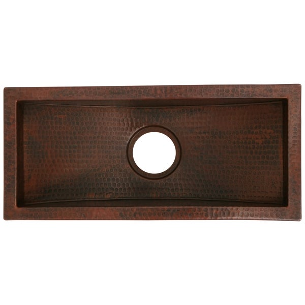 Superior Unikwities 22X10X6 Inch Undermount Copper Trough Sink Bronze Finish   Free  Shipping Today   Overstock.com   18722280