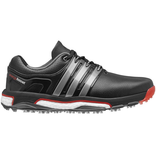 buy popular 478e0 fc441 Shop Adidas ASYM Energy Boost Right Hand Golf Shoes 2015 CLOSEOUT  Black Silver Orange - Free Shipping Today - Overstock - 11815424
