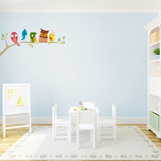 Birds on a Limb Printed Nursery Wall Decal