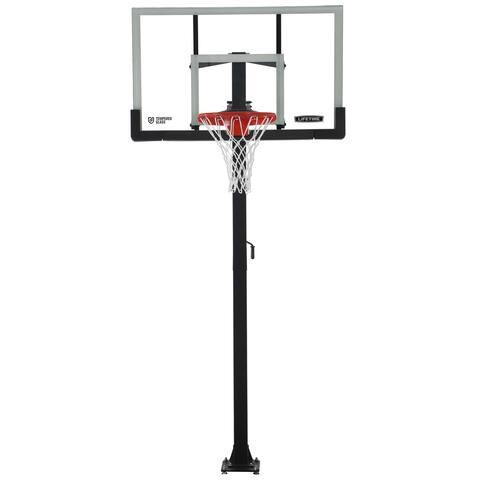 54-inch Crank Adjustable Standing Basketball Hoop