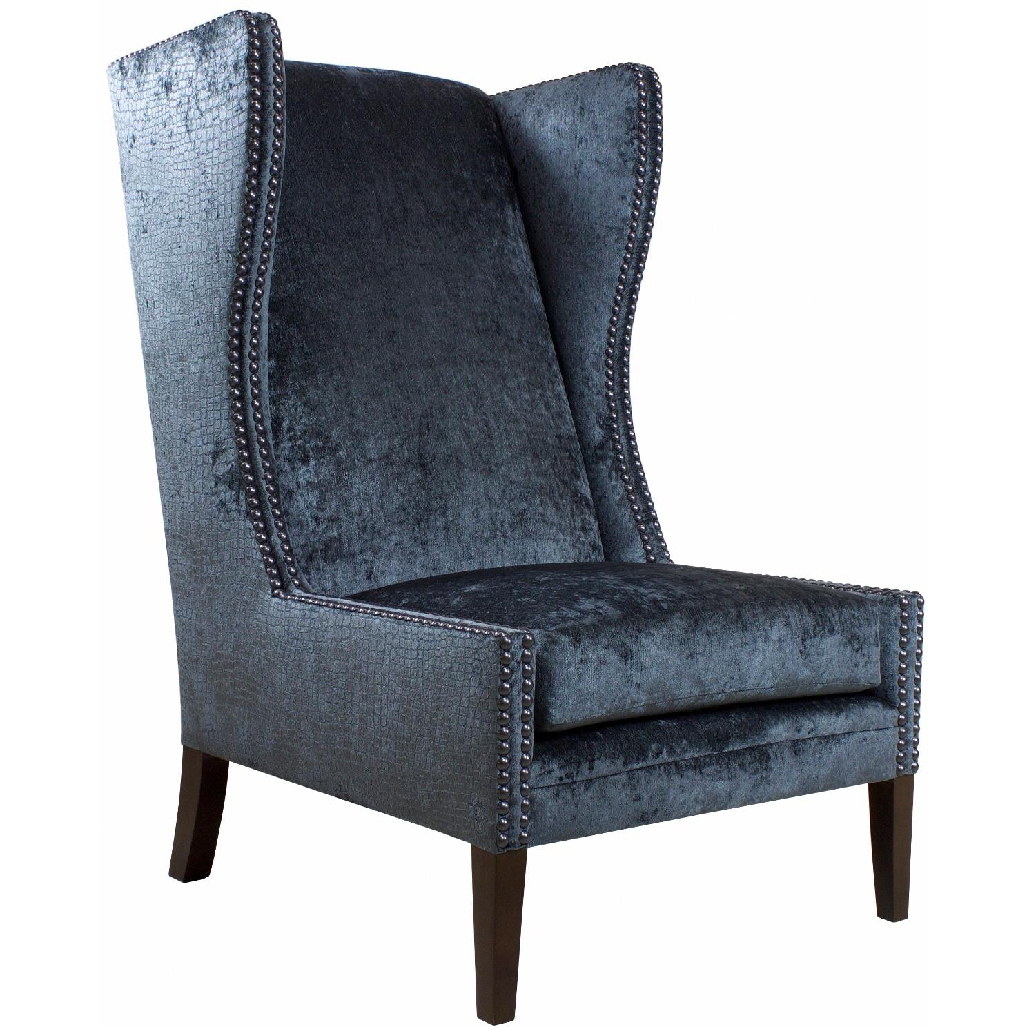 Jar Designs Alice Blue Wingback Chair
