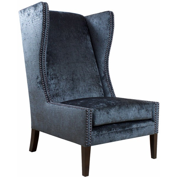 Shop Jar Designs Alice Blue Wingback Chair Free Shipping Today